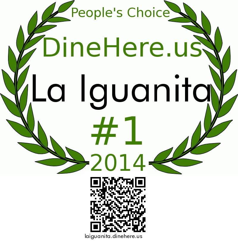 La Iguanita DineHere.us 2014 Award Winner