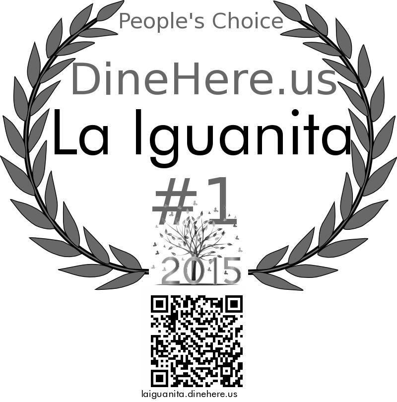 La Iguanita DineHere.us 2015 Award Winner